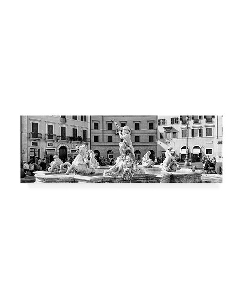 "Trademark Global Philippe Hugonnard Dolce Vita Rome 2 Piazza Navona III Canvas Art - 36.5"" x 48"""