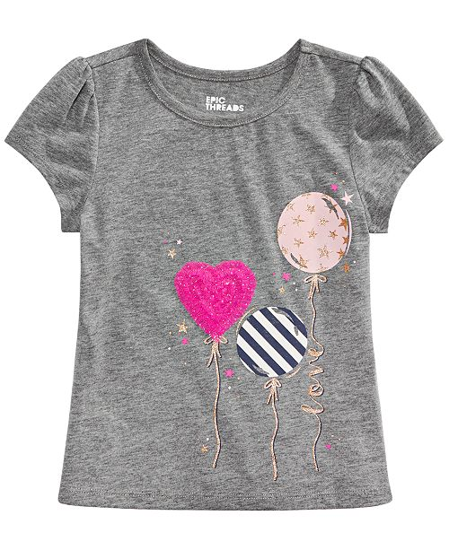 Epic Threads Little Girls Balloons T-Shirt, Created for Macy's