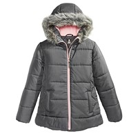 Deals on S Rothschild & CO Big Girls Hooded Quilted Jacket