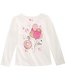 Epic Threads Toddler Girls Donuts & Balloons Top, Created for Macy's