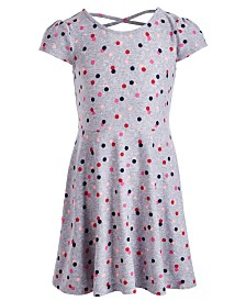 Epic Threads Little Girls Dot-Print Dress, Created for Macy's