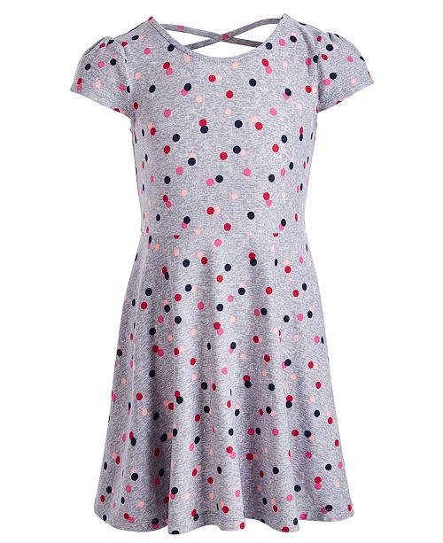 Epic Threads Toddler Girls Dot-Print Dress, Created for Macy's