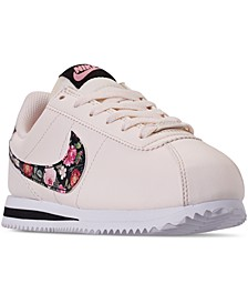 Girls Cortez Basic Leather Casual Sneakers from Finish Line
