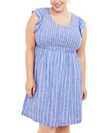 Motherhood Maternity Plus Size Tiered Nursing Dress