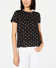 Polka-Dot Button-Back Top, Created for Macy's