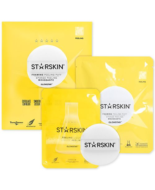 STARSKIN 2-Pc. Glowstar Foaming Peeling Puff Set