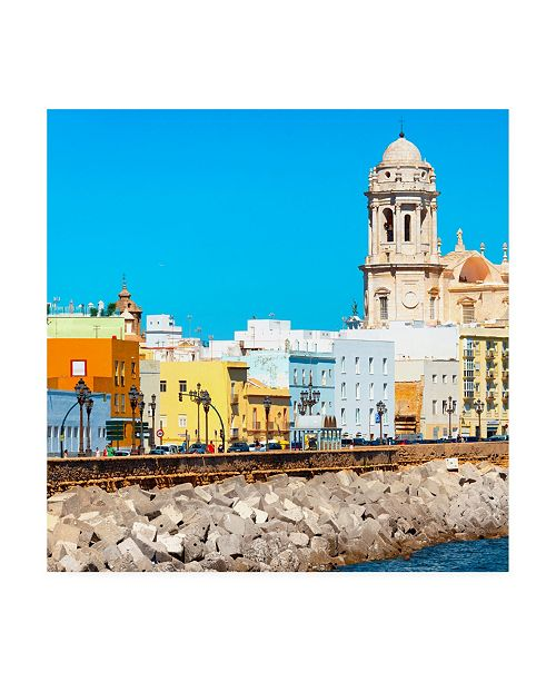 "Trademark Global Philippe Hugonnard Made in Spain 3 Cadiz Colorful City II Canvas Art - 15.5"" x 21"""