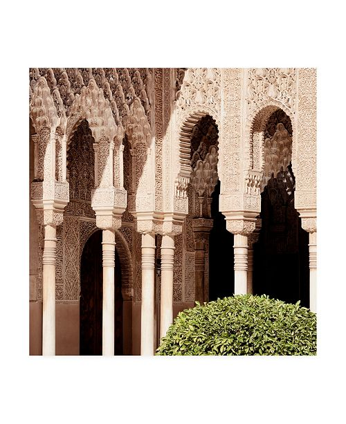 """Trademark Global Philippe Hugonnard Made in Spain 3 Arabic Arches in Alhambra Canvas Art - 36.5"""" x 48"""""""