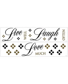 Live Love Laugh Peel and Stick Wall Decals