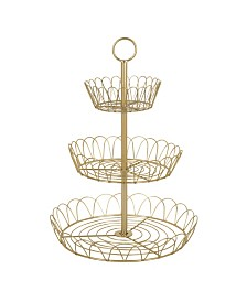 Kate and Laurel Leanza 3-Tier Metal Accent Tray, 3 Tier