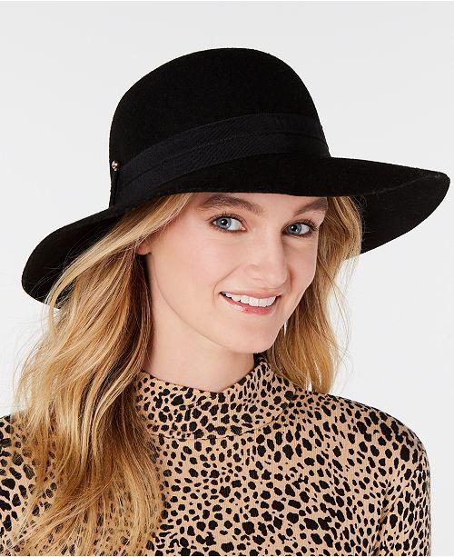 Nine West Wool Felt Downbrim Floppy Hat