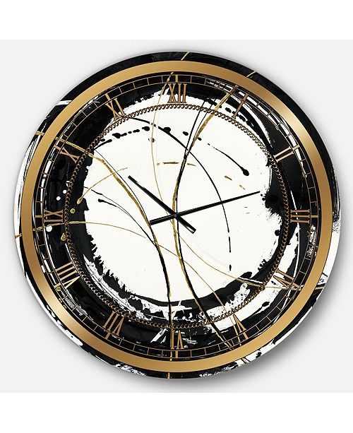 Designart Modern Glam Oversized Metal Wall Clock