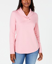 Karen Scott Cotton Shawl-Collar Top, Created for Macy's