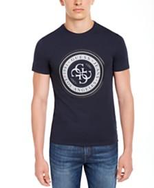 GUESS Men's Circular Logo T-Shirt