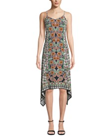 ECI Paisley-Print Slip Dress