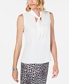 Tie-Neck Sleeveless Top