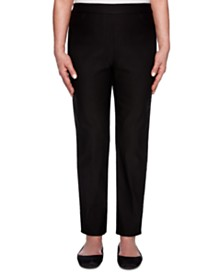 Alfred Dunner Petite Street Smart Allure Super-Stretch Pull-On Pants