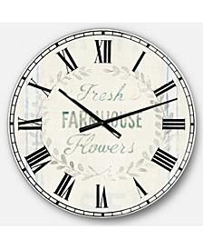 Farmhouse Oversized Metal Wall Clock
