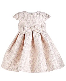 Baby Girls Metallic-Dot Bow Dress