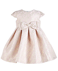 Bonnie Baby Baby Girls Metallic-Dot Bow Dress