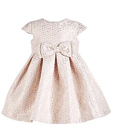 Bonnie Baby Baby Girls Metallic-Dot Bow Dress