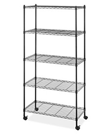 Whitmor 5-Tier Rolling Cart