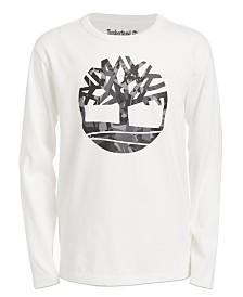 Timberland Big Boys Antrim Camo Logo T-Shirt