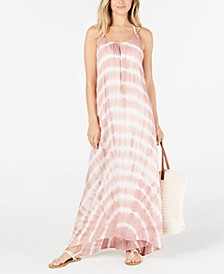 Tie-Dyed Maxi Cover-Up Dress
