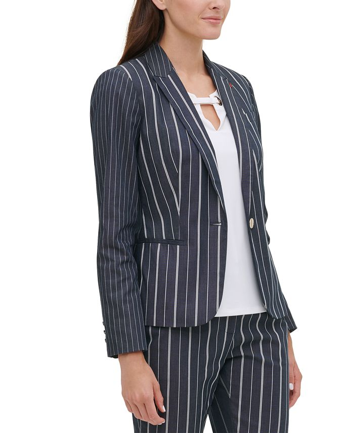 Tommy Hilfiger - Striped One-Button Jacket
