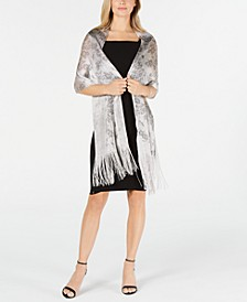 INC Floral Dream Fringed Net Wrap, Created for Macy's