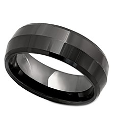 Men's Ring, Black Ceramic Ring