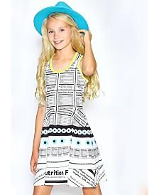 Lanoosh Big Girls Fit and Flare Printed Dress
