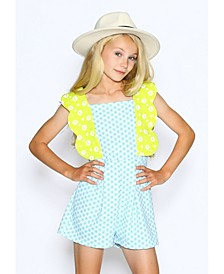 Little Girls 3D Scallop Romper