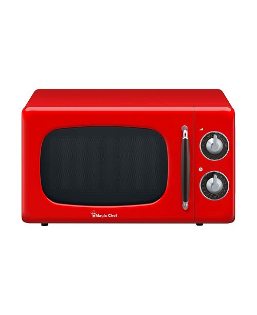 Magic Chef 0.7 Cubic Feet 700W Retro Countertop Microwave Oven