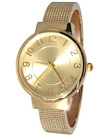 Women's Simply Textured Bangle Bracelet Watch 38mm