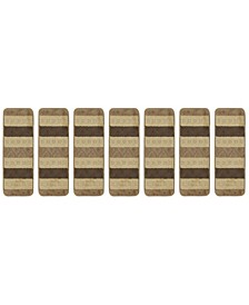 "Softy Collection Non-Slip Rubber Backing Stair Tread Pack of 7, 9"" x 26"""