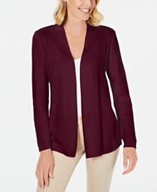 Karen Scott Cotton Textured Cardigan, Created for Macy's