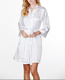 Plus Size Women's Plain Robe, Online Only