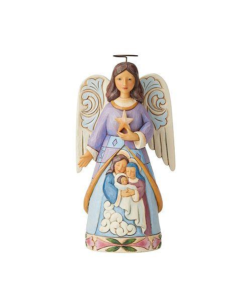 Enesco Jim Shore Angel w/ Holy Family Scene