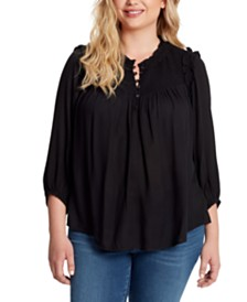 Jessica Simpson Iris Plus Size Smocked Top