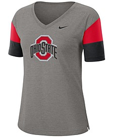 Women's Ohio State Buckeyes Breathe V-Neck T-Shirt