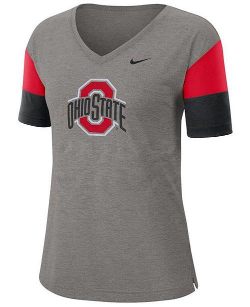 Nike Women's Ohio State Buckeyes Breathe V-Neck T-Shirt