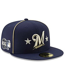 New Era Little Boys Milwaukee Brewers 2019 All Star Game Patch 59FIFTY Fitted Cap
