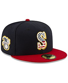 Seattle Mariners Stars and Stripes 59FIFTY Cap