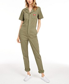 Short-Sleeve Cotton Jumpsuit