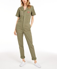 Dickies Short-Sleeve Cotton Jumpsuit