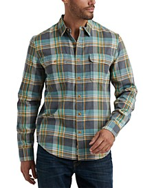 Men's Regular-Fit Plaid Twin Shirt