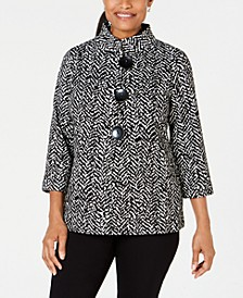 Printed Three-Button Jacket, Created for Macy's