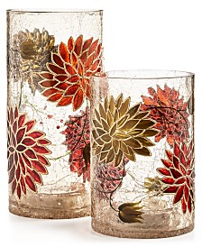Home Essentials Harvest Hurricanes, Boxed Set of 2