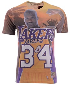 Mitchell & Ness Men's Shaquille O'Neal Los Angeles Lakers City Pride Name And Number T-Shirt